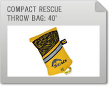 Compact Rescue Throw Bag: 40'