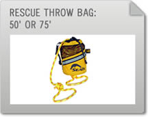 Rescue Throw Bag: 50' & 75'